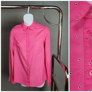 Pink Button Up Blouse